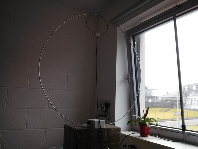 The finished magnetic loop at its optimal location